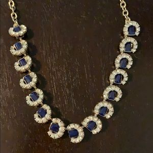 Navy blue and rhinestone necklace